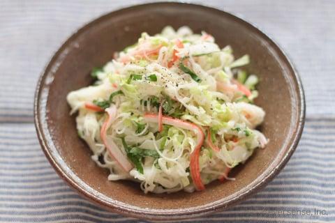 大根 白菜 レシピ 大根と白菜のコールスロー 大根を千切りする アレンジ