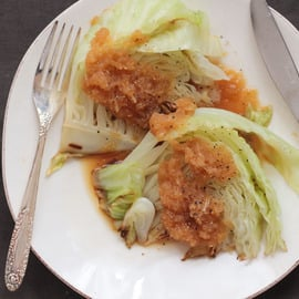 大根 キャベツ レシピ キャベツステーキのおろし大根ソース
