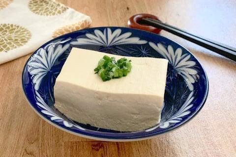 豆腐の水切り ネギあり