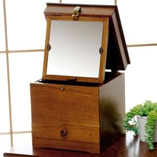 鏡付き コスメボックス 木製