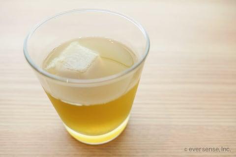 えのき氷 お茶 グラス