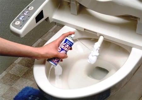 らくハピ 便座ノズルと便器の洗浄・除菌 泡スプレー