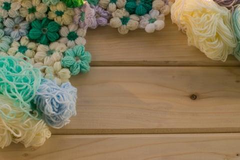 リフ編み 花 編み物 毛糸