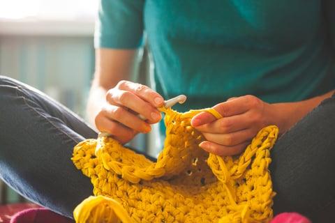 リフ編み 編み物 毛糸 かぎ針