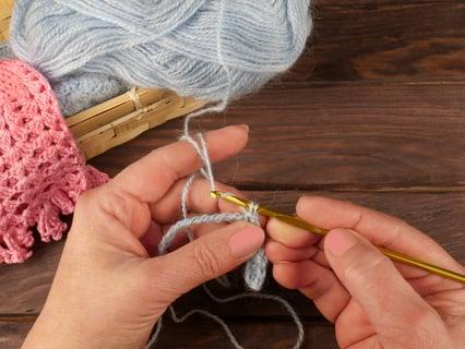 かぎ針編み 編み物 編み方 円編み 段目リング 目数リング