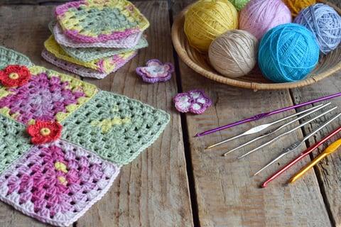 かぎ針編み 編み物 編み方 四角