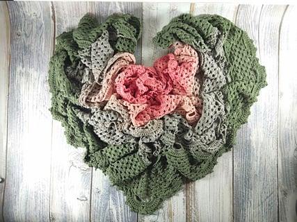 かぎ針編み 編み物 編み方 ハート