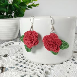 かぎ針編み 編み物 編み方 花 バラ