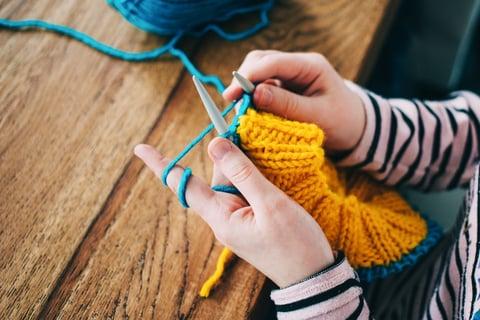 スヌード 編み物 ハンドメイド