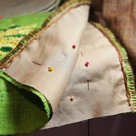 ミモザ 刺繍 裁縫 ハンドメイド