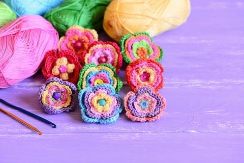 編み物 ハンドメイド 手作り 花 モチーフ かぎ針