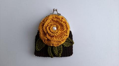 編み物 ハンドメイド 手作り 花 モチーフ