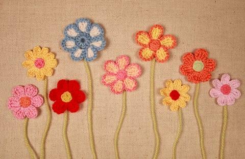 パンジー 花 編み物 モチーフ