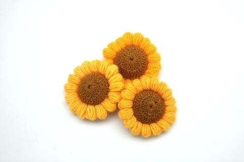 ひまわり 花 編み物 モチーフ