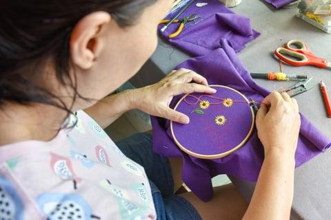 ひまわり 刺繍 裁縫 ハンドメイド