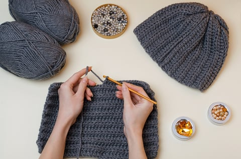 かぎ針編み マフラー 手作り ハンドメイド 裁縫