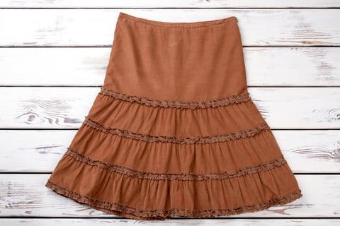 ギャザースカート 裁縫 手作り ハンドメイド