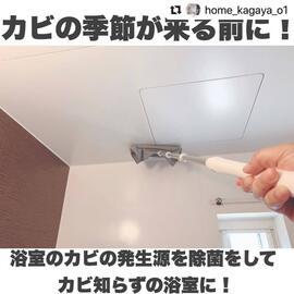 \お風呂のカビ対策/天井はアルコールで拭き掃除!!