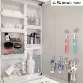 \洗面台の収納/1つ1つの定位置を決めるとスッキリ使いやすい!