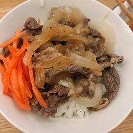 レンチンで本格牛丼❗食べざかり男子にも☆